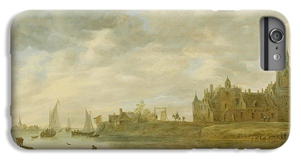 View Of The Castle Of Wijk At Duurstede IPhone 6 Plus Case by Jan van Goyen