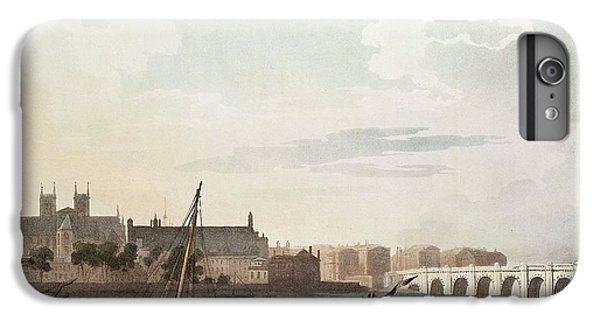 View Of Westminster And The Bridge Wc On Paper IPhone 6 Plus Case by English School