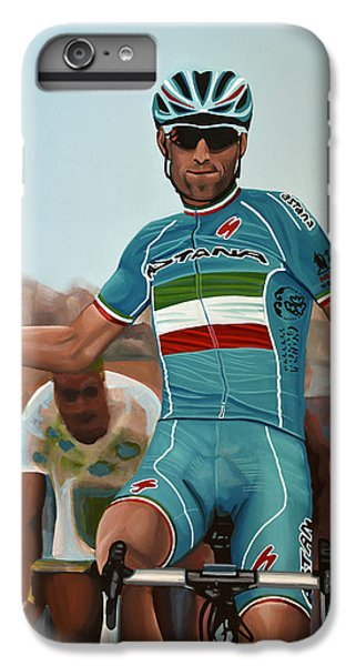 Vincenzo Nibali Painting IPhone 6 Plus Case by Paul Meijering
