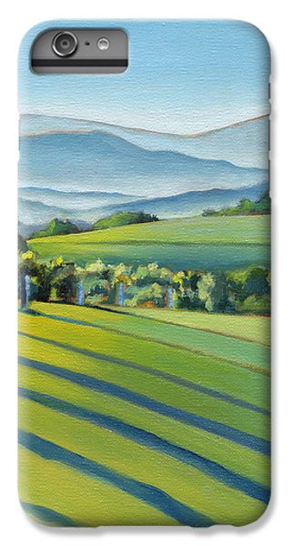 Wine iPhone 6 Plus Case - Vineyard Blue Ridge On Buck Mountain Road Virginia by Catherine Twomey