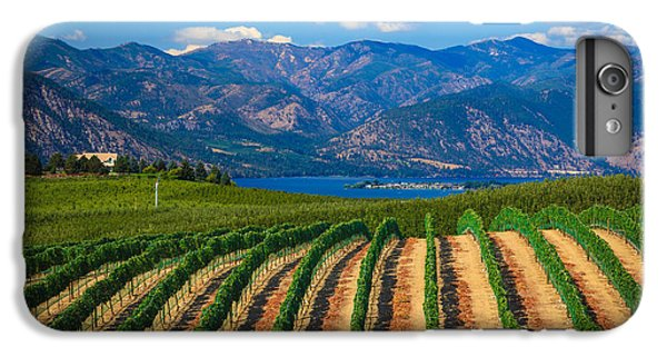 Vineyard In The Mountains IPhone 6 Plus Case by Inge Johnsson