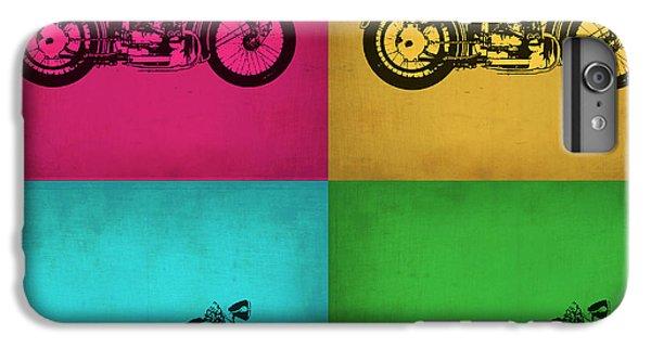 Motorcycle iPhone 6 Plus Case - Vintage Bike Pop Art 1 by Naxart Studio