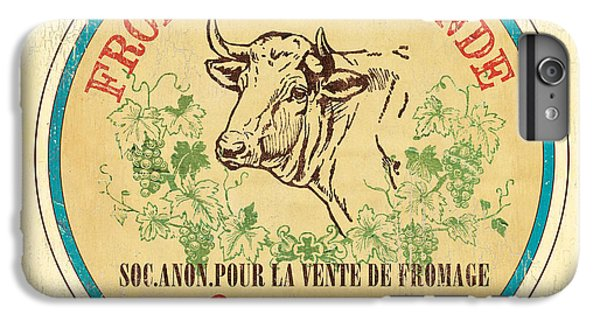 Cow iPhone 6 Plus Case - Vintage Cheese Label 1 by Debbie DeWitt