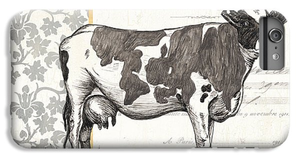Cow iPhone 6 Plus Case - Vintage Farm 1 by Debbie DeWitt