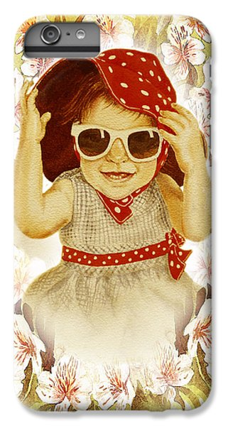 IPhone 6 Plus Case featuring the painting Vintage Fashion Girl by Irina Sztukowski