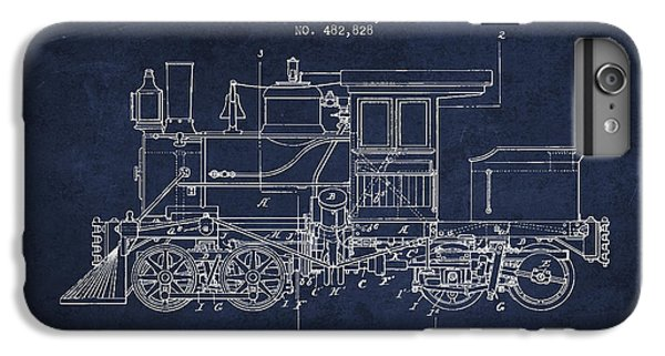 Train iPhone 6 Plus Case - Vintage Locomotive Patent From 1892 by Aged Pixel