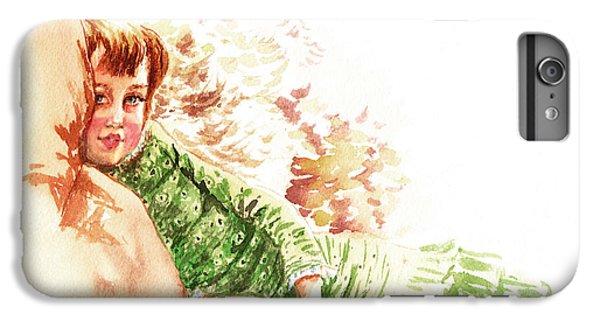 IPhone 6 Plus Case featuring the painting Vintage Study Lilian Of James Tissot by Irina Sztukowski