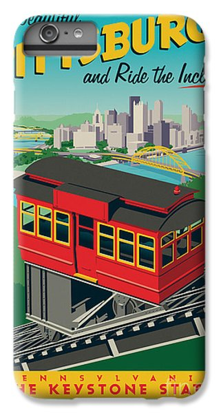 Vintage Style Pittsburgh Incline Travel Poster IPhone 6 Plus Case by Jim Zahniser
