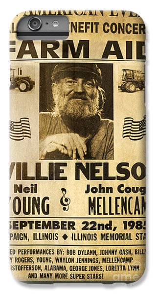 Vintage Willie Nelson 1985 Farm Aid Poster IPhone 6 Plus Case