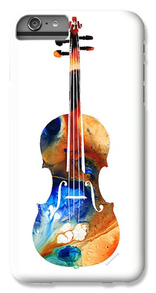 Music iPhone 6 Plus Case - Violin Art By Sharon Cummings by Sharon Cummings