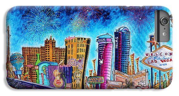 Viva Las Vegas A Fun And Funky Pop Art Painting Of The Vegas Skyline And Sign By Megan Duncanson IPhone 6 Plus Case