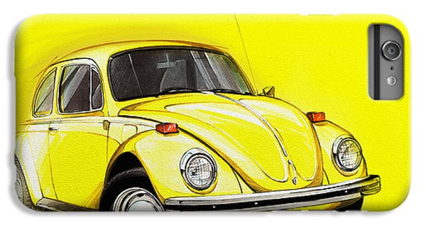 Volkswagen Beetle Vw Yellow IPhone 6 Plus Case by Etienne Carignan