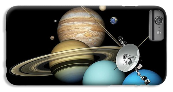 Voyager 2 And Planets IPhone 6 Plus Case by Carlos Clarivan