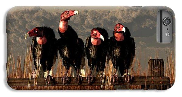 Vultures On A Fence IPhone 6 Plus Case by Daniel Eskridge