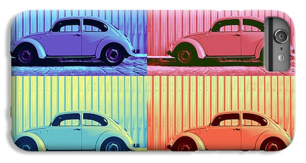 Vw Beetle Pop Art Quad IPhone 6 Plus Case by Laura Fasulo