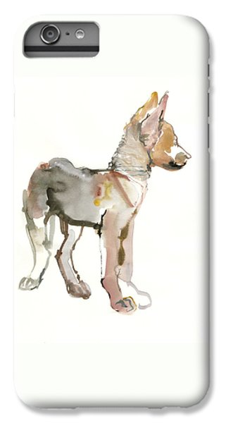 Wolves iPhone 6 Plus Case - Waggle Arabian Wolf Pup by Mark Adlington