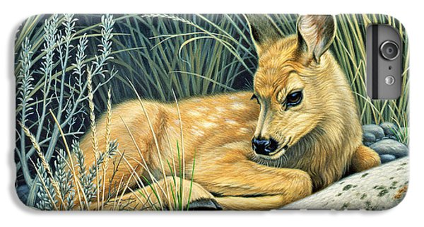 Deer iPhone 6 Plus Case - Waiting For Mom-mule Deer Fawn by Paul Krapf