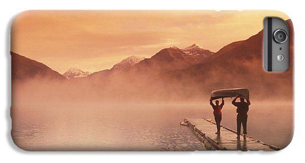 Walking On Dock Robe Lake  Sunrise Sc IPhone 6 Plus Case by Michael DeYoung
