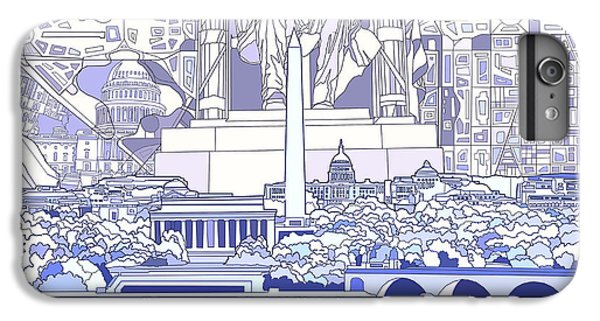 Lincoln Memorial iPhone 6 Plus Case - Washington Dc Skyline Abstract 3 by Bekim Art