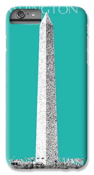 Washington Dc Skyline Washington Monument - Teal IPhone 6 Plus Case by DB Artist
