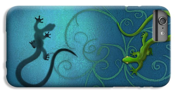 water colour print of twin geckos and swirls Duality IPhone 6 Plus Case