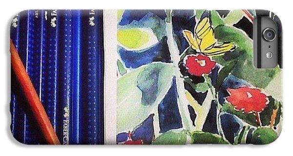 iPhone 6 Plus Case - Watercolor Greetings Cards.... Pintando by Sandra Lira