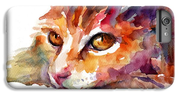 Watercolor Orange Tubby Cat IPhone 6 Plus Case