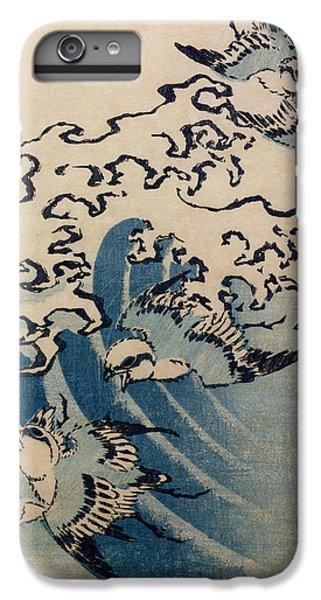 Waves And Birds IPhone 6 Plus Case by Katsushika Hokusai