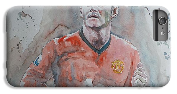 Wayne Rooney iPhone 6 Plus Case - Wayne Ronney - Portrait 1 by Baris Kibar