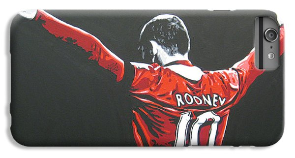 Wayne Rooney iPhone 6 Plus Case - Wayne Rooney - Manchester United Fc 2 by Geo Thomson
