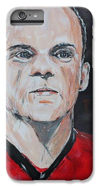 Wayne Rooney IPhone 6 Plus Case by John Halliday