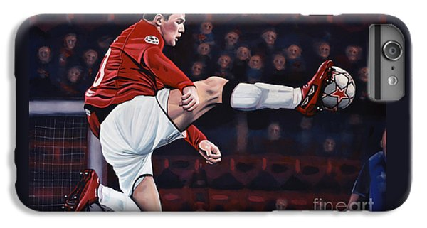 Wayne Rooney iPhone 6 Plus Case - Wayne Rooney by Paul Meijering