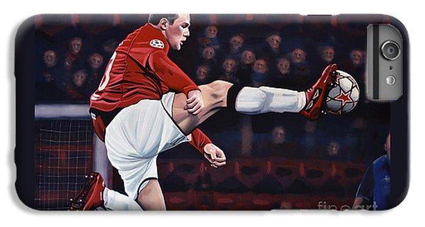 Wayne Rooney IPhone 6 Plus Case by Paul Meijering