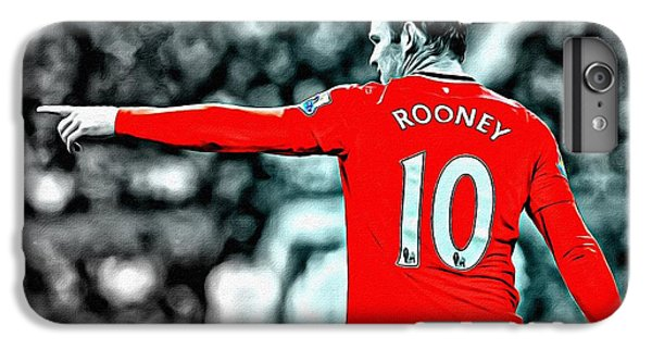 Wayne Rooney iPhone 6 Plus Case - Wayne Rooney Poster Art by Florian Rodarte