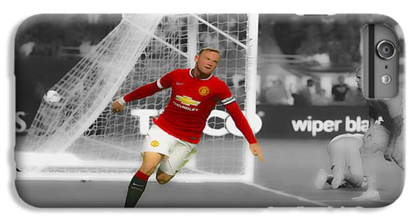 Wayne Rooney iPhone 6 Plus Case - Wayne Rooney Scores Again by Brian Reaves