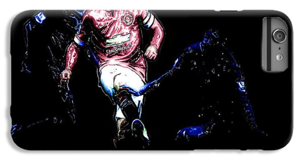 Wayne Rooney iPhone 6 Plus Case - Wayne Rooney Working Magic by Brian Reaves