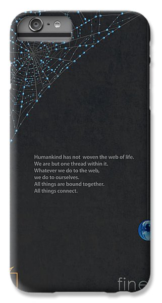 Spider iPhone 6 Plus Case - Web Of Life by Sassan Filsoof