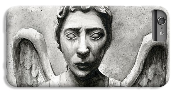 Science Fiction iPhone 6 Plus Case - Weeping Angel Don't Blink Doctor Who Fan Art by Olga Shvartsur
