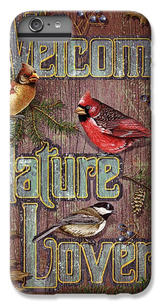 Cardinal iPhone 6 Plus Case - Welcome Nature Lovers 2 by JQ Licensing