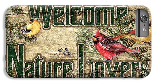 Cardinal iPhone 6 Plus Case - Welcome Nature Lovers by JQ Licensing