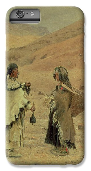 West Tibetans, 1875 Oil On Canvas IPhone 6 Plus Case by Piotr Petrovitch Weretshchagin