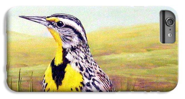 Western Meadowlark IPhone 6 Plus Case by Tom Chapman