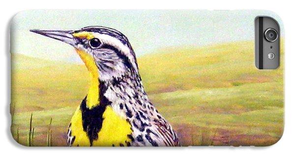 Meadowlark iPhone 6 Plus Case - Western Meadowlark by Tom Chapman