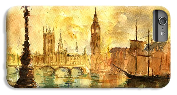 Westminster Palace London Thames IPhone 6 Plus Case by Juan  Bosco
