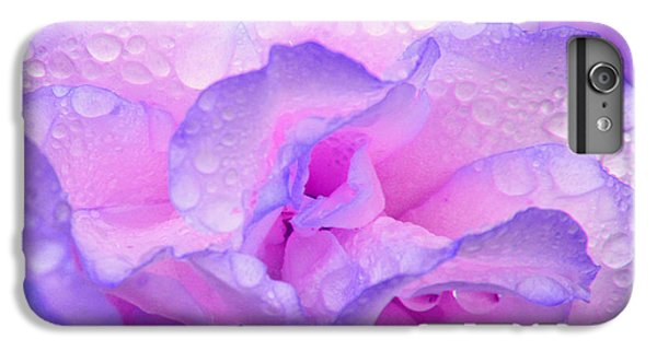 Wet Rose In Pink And Violet IPhone 6 Plus Case by Nareeta Martin