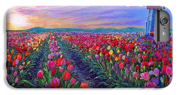 Tulip Fields, What Dreams May Come IPhone 6 Plus Case by Jane Small