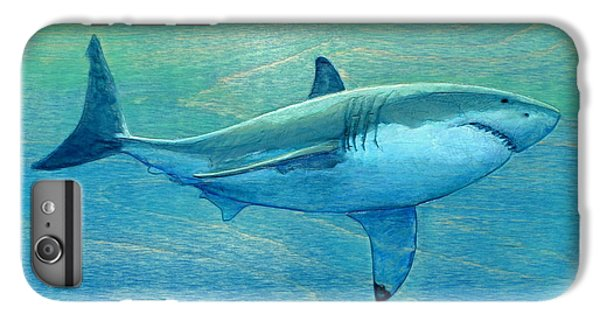 Sharks iPhone 6 Plus Case - What Lurks Below by Nathan Ledyard