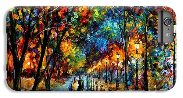 Afremov iPhone 6 Plus Case - When Dreams Come True - Palette Knlfe Landscape Park Oil Painting On Canvas By Leonid Afremov by Leonid Afremov