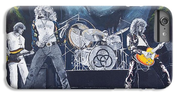 Rock Music Jimmy Page iPhone 6 Plus Case - When Giants Rocked The Earth by Bruce Schmalfuss