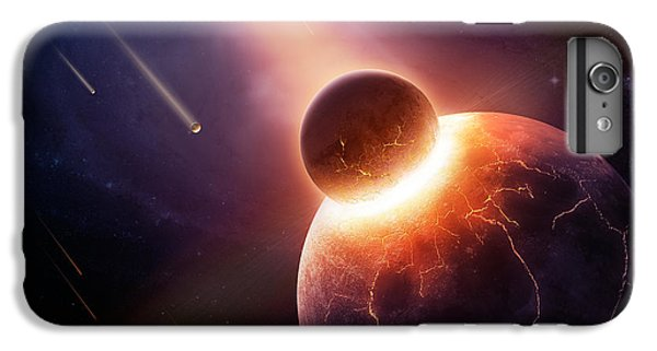 Planets iPhone 6 Plus Case - When Planets Collide by Johan Swanepoel